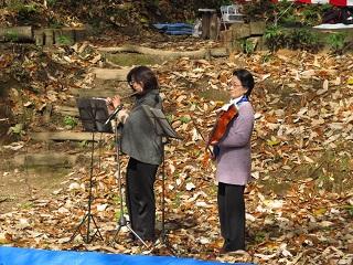 フルートとバイオリンの演奏