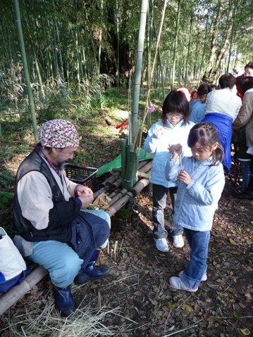 竹細工コーナーの様子