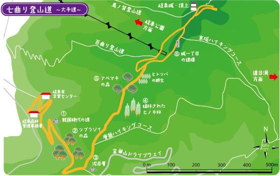 七曲りTOPマップ