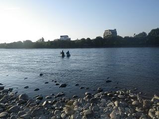 水中カメラ設営
