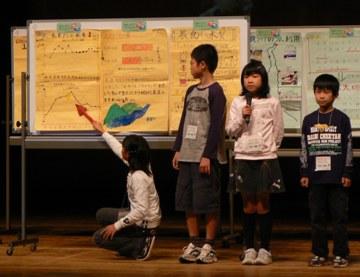 岐阜小学校5年生の発表の様子