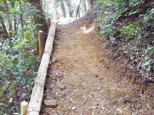 登山道補修跡1