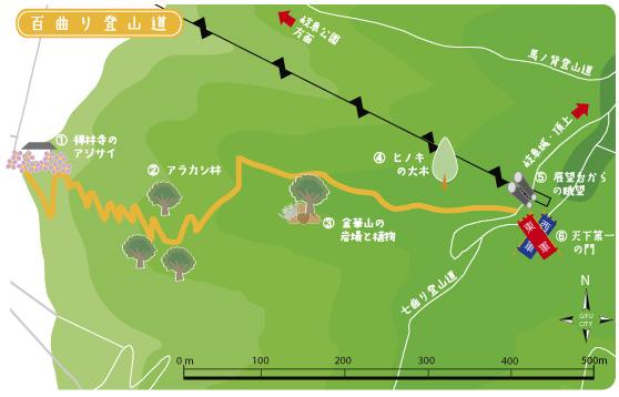 百曲りTOPマップ