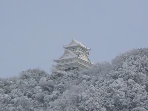 雪景色の岐阜城