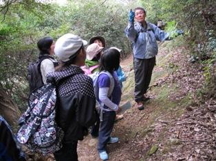 柴田講師による樹木の解説