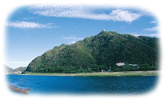 金華山と長良川写真
