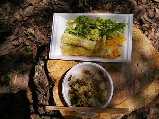 炊き込みご飯と天ぷら