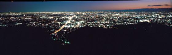 南の夜景@頂上