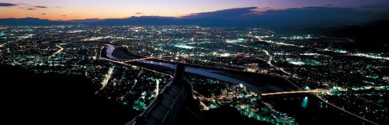 西の夜景@頂上